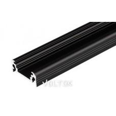 Алюминиевый Профиль TOP-SURFACE-2000 BLACK (K13, P15)
