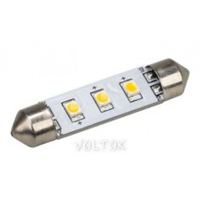 Автолампа ARL-F42-3E Warm White (10-30V, 3 LED 2835)