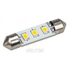 Автолампа ARL-F37-3E Warm White (10-30V, 3 LED 2835)