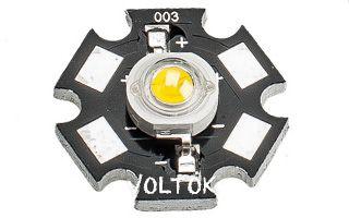 Мощный светодиод ES-STAR-1W Yellow-S