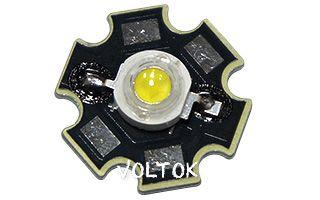 Мощный светодиод OS-STAR-1W White 10V (120mA, 6000K)
