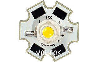 Мощный светодиод OS-Star-5W WARM WHITE 3000K
