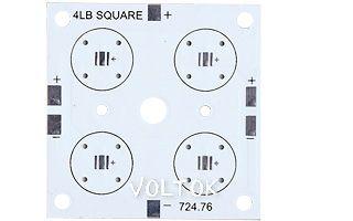 Плата 52x52-4XP CREE (4x LED, 724-76)