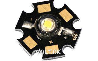 Мощный светодиод ARPL-Star-1W Green (2G1E)