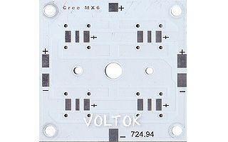 Плата 52x52-4MX6 CREE (4S, 724-94)
