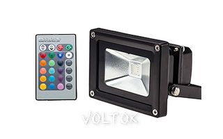 Светодиодный прожектор BR-FL-10W-RGB IR24B (Black, AC220V)
