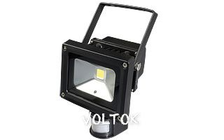 Светодиодный прожектор BR-FL-10W-PIR Warm White (Black, AC220V)