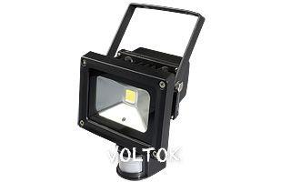Светодиодный прожектор BR-FL-10W-PIR White (Black, AC220V)