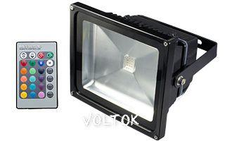 Светодиодный прожектор BR-FL-30W-RGB IR24B (Black, AC220V)