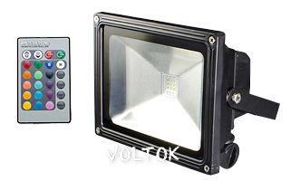 Светодиодный прожектор BR-FL-20W-RGB IR24B (Black, AC220V)