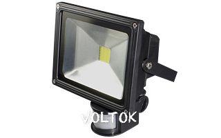Светодиодный прожектор BR-FL-20W-PIR Warm White (Black, AC220V)