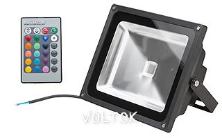 Светодиодный прожектор BR-FL-60W-RGB IR24B (Black, AC220V)