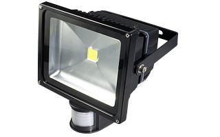 Светодиодный прожектор BR-FL-50W-PIR White (Black, AC220V)