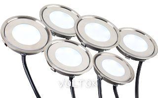 Набор KT-R-6x0.5W LED Warm White 12V (круг)