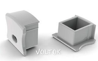 Заглушка PVC-SLIM-H15 с отверстием