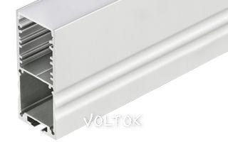 Профиль с экраном ALU-POWER-S30-2000 ANOD+FROST