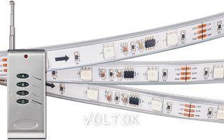 Лента с ПДУ CS-SPI-5000P 12V RGB (5060, 150 LED)