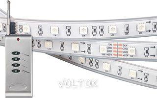 Лента с ПДУ CS-SPI-5000P 12V RGB (5060, 240 LED)