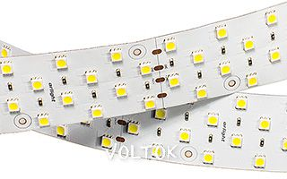 Лента RT 2-2500 24V Warm 4x2 (5060, 400 LED, LUX)