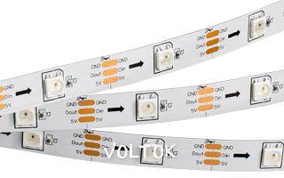Лента SPI 2-5000 5V RGB (5060,150 LEDx1, 2812, W)