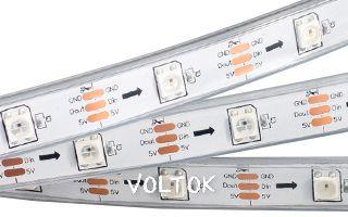 Лента SPI 2-5000P 5V RGB (5060,150 LEDx1, 2812, W)