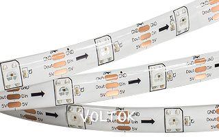 Лента SPI 2-5000E 5V RGB (5060,150 LEDx1, 2812, W)
