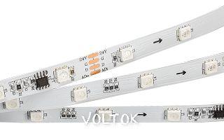 Лента DMX-5000 24V RGB (5060,180 LEDx6, DMX)