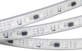 Лента SPI-5000P 12V RGB (5060, 300 LED x3, 2811)
