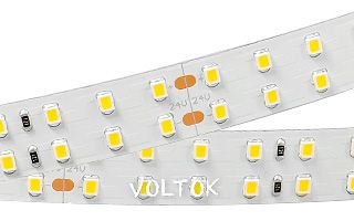 Лента RT 2-5000 24V Warm 2x2 (2835,980 LED, LUX)