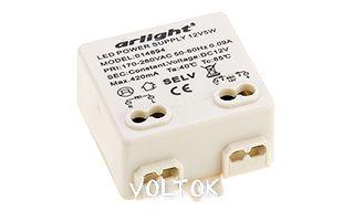 Блок питания ARPV-12005T (12V, 0.42A, 5W)