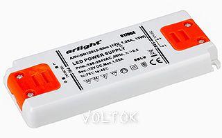 Блок питания ARV-SN12015-Slim (12V, 1.25A, 15W)