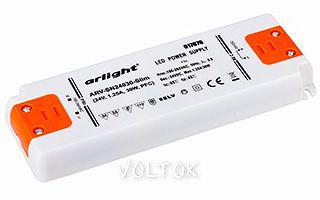 Блок питания ARV-SN24030-Slim (24V, 1.25A, 30W, PFC)