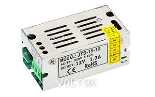 Блок питания JTS-15-12 (12V, 1.3A, 15W)