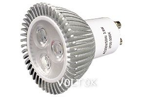 Светодиодная лампа ECOSPOT GU10 3.6W MDS-M16-4003 Warm 45deg
