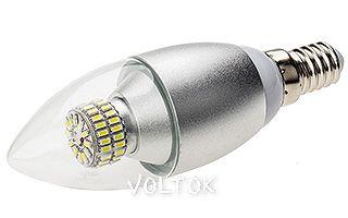 Светодиодная лампа E14 CR-DP-Candle 6W Warm White 220V
