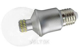 Светодиодная лампа E27 CR-DP-G60 6W Warm White