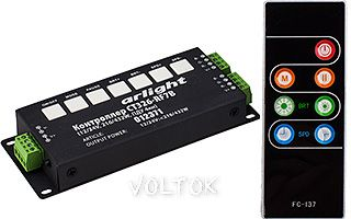 Контроллер CT326-RF7B (12/24V, 216/432W, ПДУ 7кн)
