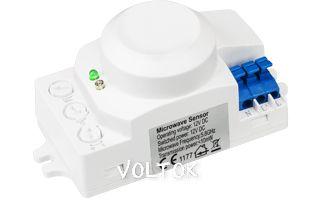 Датчик движения MW-RS02DC (24V, угол 360°, 2-10м)