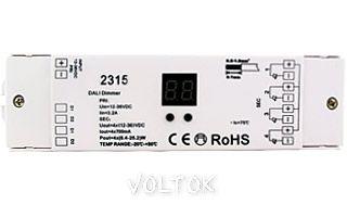 Диммер DALI SR-2317B (12-36V, 4x700mA, 4 адреса)