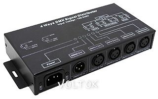 Дистрибьютор DMX-сигнала LN-DMX-4CH (220V)