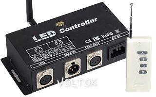 Контроллер LW-M1-DMX (220V, SD-карта, ПДУ-RF 4кн)