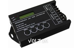 Контроллер LN-Time-5CH (12-24V, 240-480W, USB)