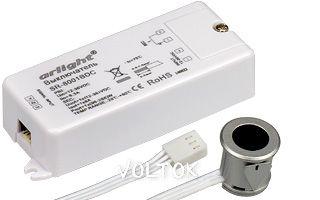 Выключатель SR-8001BDC Silver(12-36V,1x8A,IR-Sens)