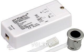 Выключатель SR-8001ADC Silver(12-36V,1x8A,IR-Sens)