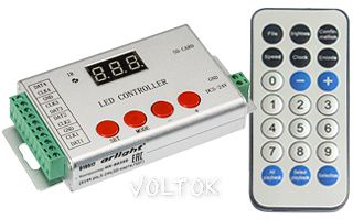 Контроллер HX-802SE (6144 pix,5-24V,SD-карта,ПДУ)