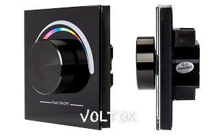 Панель Rotary SR-2836-RGB Black (3V,RGB,1зона)