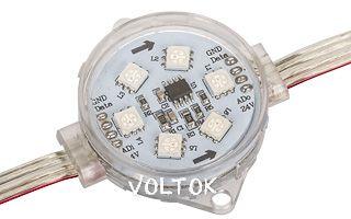 Модуль герметичный ARL-D45-5050x6-DMX RGB 24V Прозрачный
